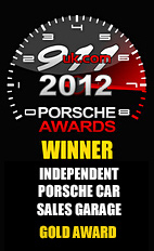 2012 Porsche Independent Car Sales Garage - Gold Award