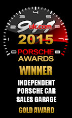 2015 Porsche Independent Car Sales Garage - Gold Award