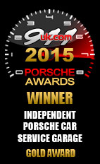 2015 Porsche Independent Car Service Garage - Gold Award