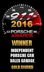 2016 Porsche Independent Car Sales Garage - Gold Award