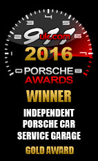 2016 Porsche Independent Car Service Garage - Gold Award